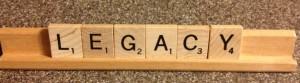 LEGACY scrabble letters